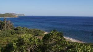 Sardinien - Blick von Oben - Küstenstraße Richtung Villassimius